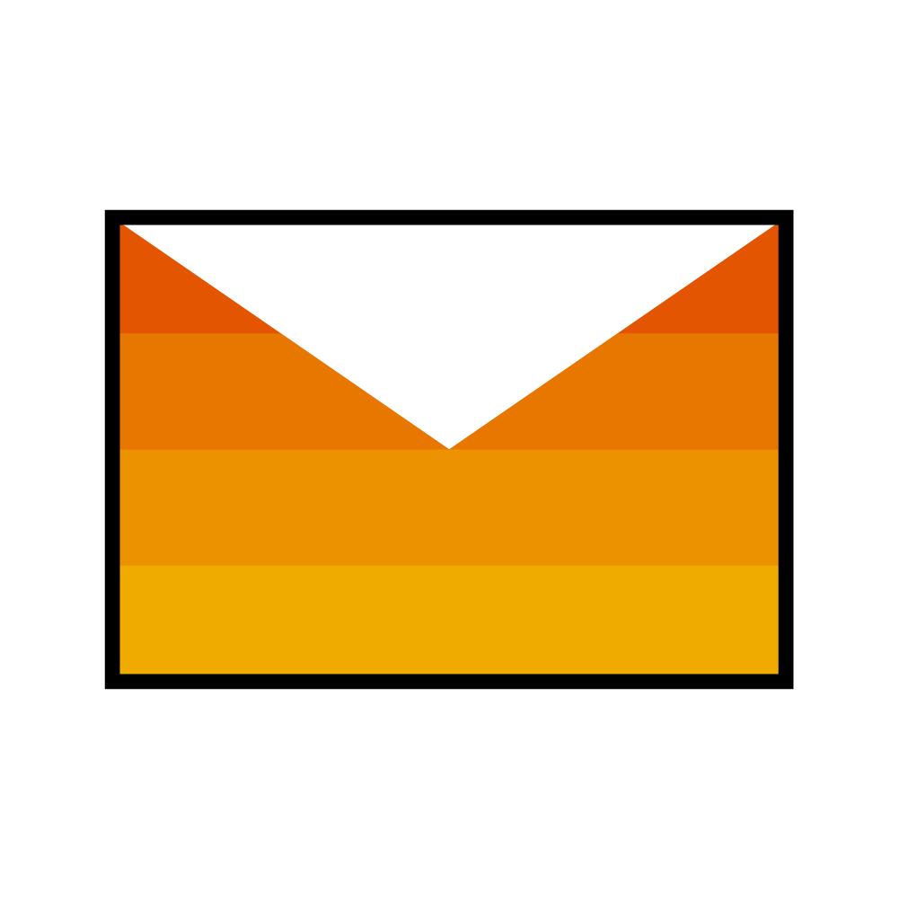 icon of email envelope for contact