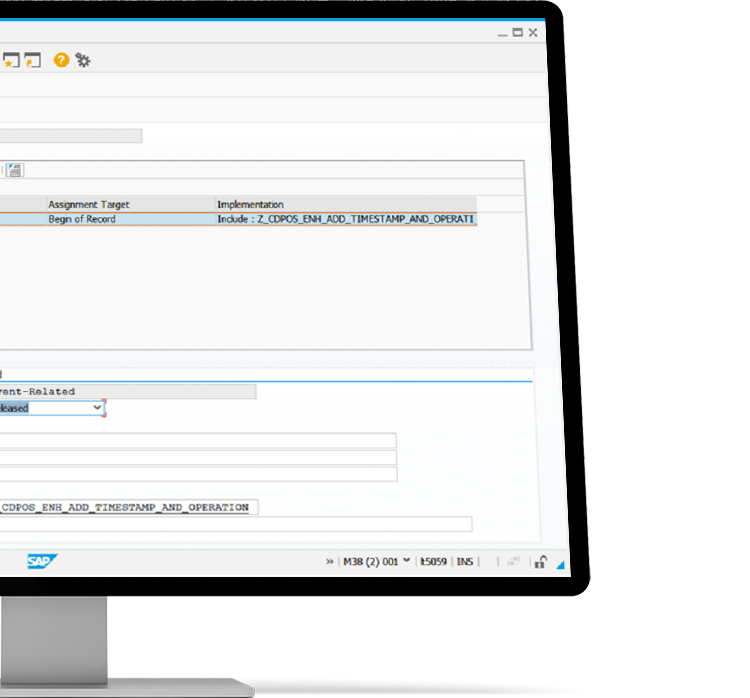 SAP LT Replication Server with advanced replication settings on the left and role overview on the right in a desktop device