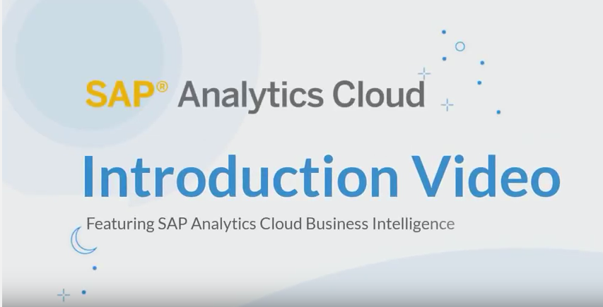 Video thumbnail slide for SAP Analytics Cloud Intro video